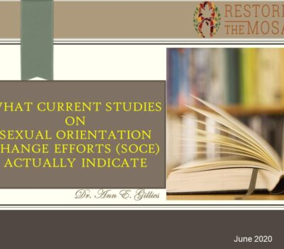 What Current Studies On  Sexual Orientation Change Efforts (SOCE) Actually Indicate